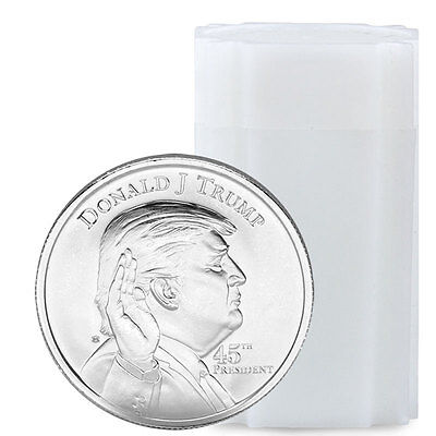 Roll of 20 Elemetal Donald Trump 1 oz. Silver Rounds Made in USA SKU45788