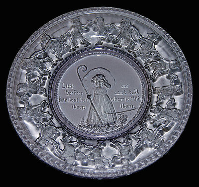 Early Indiana Childs Pressed  Glass Bo Peep Plate
