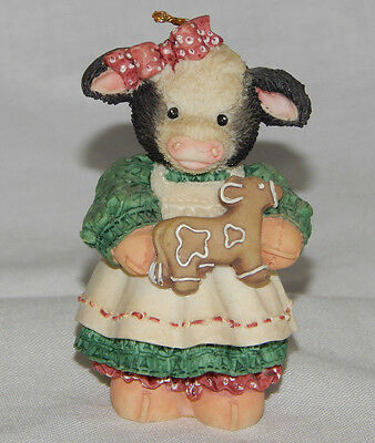 Mary Moo Moo Mary Moo With An Cow Cookie Ornament 1995