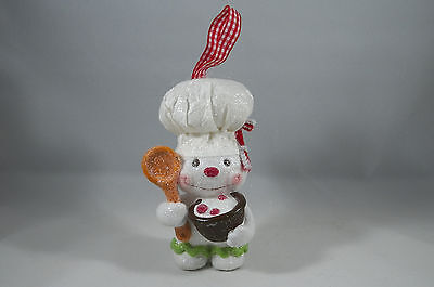 Snowman Chef with Bowl of Goodies Christmas Tree Ornament new holiday