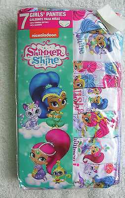 "//(*_*)\   ""SHIMMER AND SHINE ""  7 Pr. Pkg.GIRLS PANTIES SIZE 4 NWT #4C"