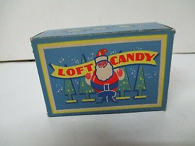 Vintage LOFT of NY Christmas Candy Box - SANTA w TREES