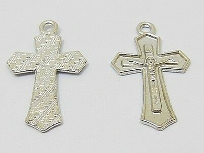 200Pcs Charm Cross Bead Pendant 3.1x1.8x0.15cm