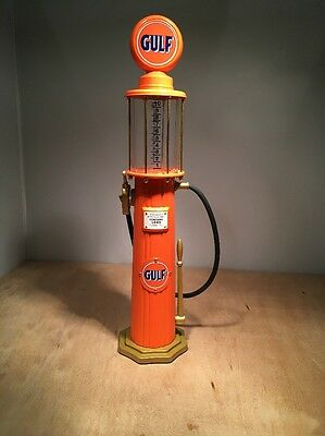 Gulf Oil 1920 Wayne Gas Pump Mechanical Bank - Gearbox #11002