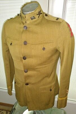 WW1 Army Officer's Tunic 121st Field Artillery FA 32nd Infantry Div. ID Uniform