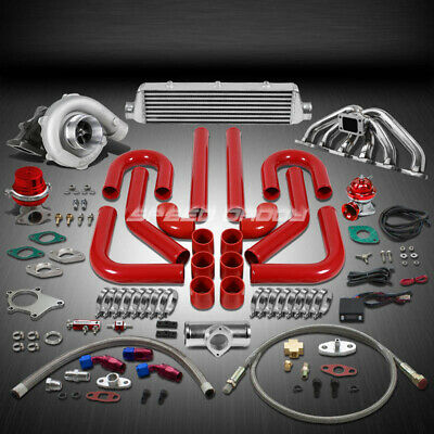 T04 .63Ar 400+Hp 12Pc Turbo Charger+Manifold+Intercooler Kit For Rb20/rb25 Gts