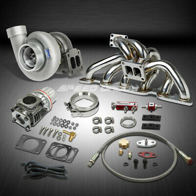 Gt45 1.05Ar 800Hp+Boost 6Pc Turbo Charger+Manifold Kit For Skyline Gt-R Rb26De
