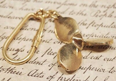 Vintage Antique Style Brass Nautical Sailing Boat Ships Propeller Keychain Gift