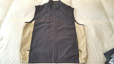 NEW  Cutter & Buck Men's Lightweight Vest  Sz. XL  Black/Tan NEW