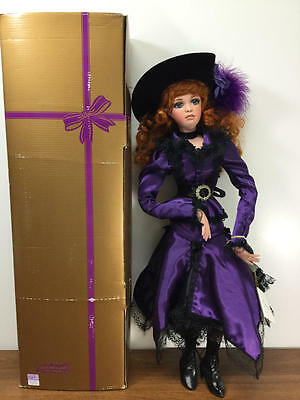 """22"""" Jan Mclean Porcelain French Floozies Doll, Pearl"""