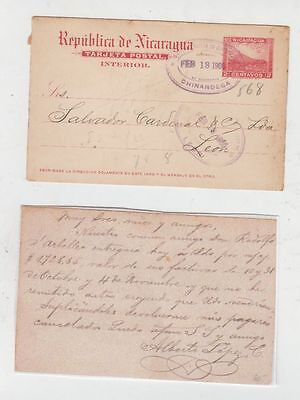 oldhal-Nicaragua-Card from Chinandega to Leon-1905