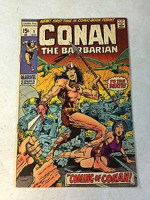 CONAN the BARBARIAN #1 KEY ISSUE, 1970, BW SMITH, BY CROM!! NICE CONDITION!!