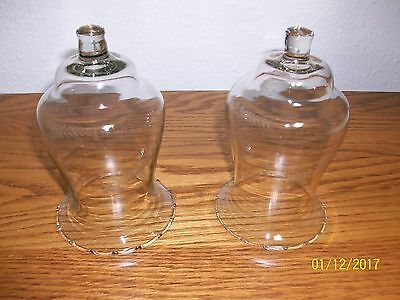 Home Interior/homco--Set Of 2--Wheat Pattern Clear Glass Votive Cups