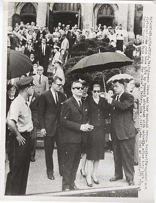 Grace Kelly-Original Photo-At Her Dad's Funeral-With Prince Ranier=Long Shot