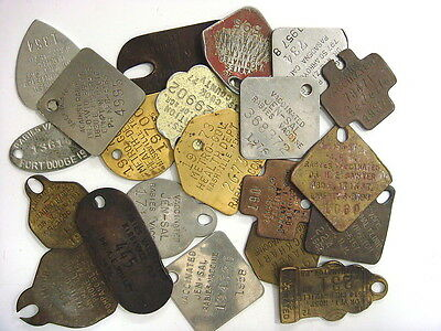 21 different modern Rabies Tags