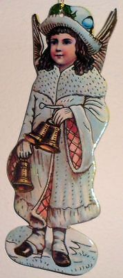 Litograph Old World Angel Christmas Tree Decoration Ornament Holiday Item 6 PC