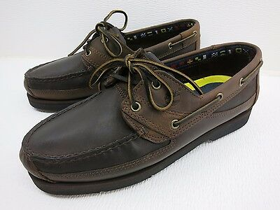 Timberland Brown Leather Casual Comfort Boat Deck Shoes Nautical Footwear 10.5 W