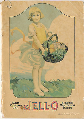 1920 Rose O'Neill Jell-o Girl Recipe Advertising Booklet, 16 Pages