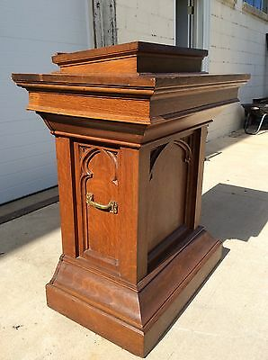 Antique Church Celtic Oak Podium Pulpit Lecturn Stand Bar Adjustable Height