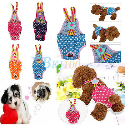 Orange Pet Dog Pants Puppy Diaper Sanitary Underwear Physiological Dog Clothes