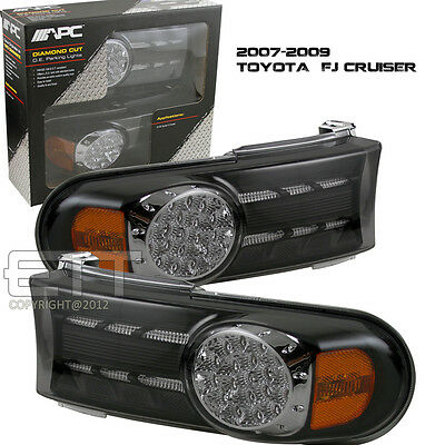 2007-2014 Toyota Fj Cruiser Black Park Turn Signal Lights Lamps Black Pair