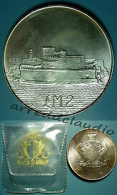 Malta 2 Pounds 1972 Fort Sant'angelo Argento Silver