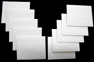 HANDMADE EMBOSSED  MINI  ENVELOPES - Pack of 10  - 100mm x 80mm