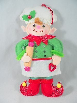 Gingerbread Elf Chef with Rolling Pin Christmas Tree Ornament new holiday