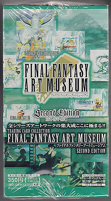 Final Fantasy Art Museum Trading Card Second Edition Sealed Box Japanese