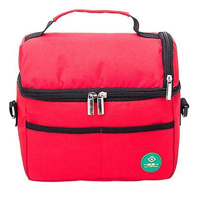 Insulated Waterproof Thermal Shoulder Picnic Cooler Lunch Bag Storage Box Tote F
