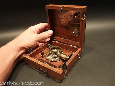 Vintage Antique Style T Cooke & Sons London 1858 Navigation Instrument Box