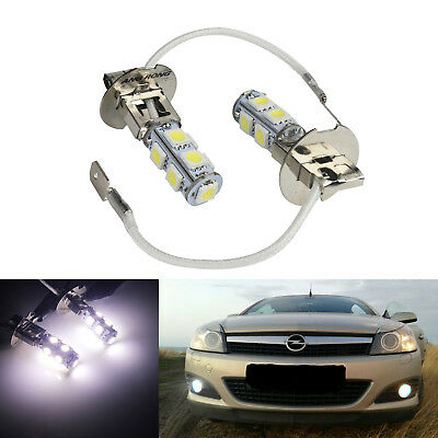 1 Pair H3 SMD 9 LED Car Front Fog Light Bulbs White Non-Canbus Auto Lamps