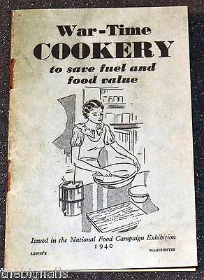 1940's War-Time COOKERY Booklet new