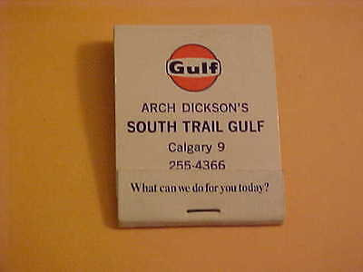 Complete Unused Gulf Oil Company Matchbook  South Trail Gulf Calgary