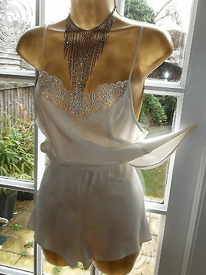"""Vintage Style Luxurious Silk Cami & Matching Tap Pantie French Knicker Set 36"""""""
