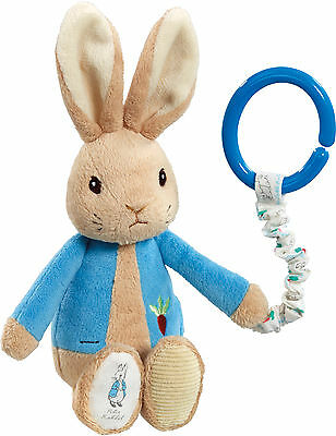 Rainbow Designs PETER RABBIT ATTACHABLE TOY Baby/Toddler Travel Soft Toy/Gift BN