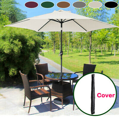 Aluminium 3M Large Round Garden Parasol Canopy Patio Sun Shade Umbrella Cover