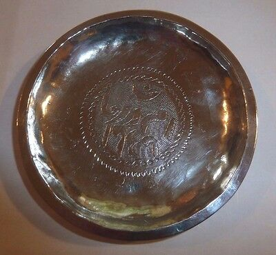 Middle Eastern Islamic Solid Silver Dish