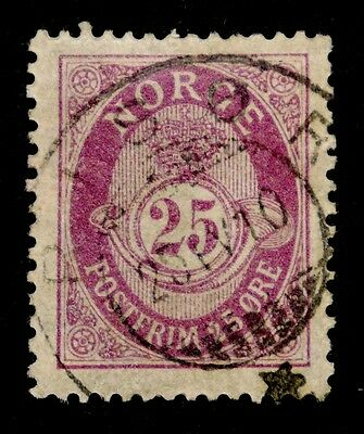 Norway: 1901 Classic Era Stamp Scott #54 Used Sound