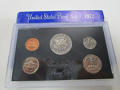 1972 USA 5 Coin Proof Boxed Set of Coins
