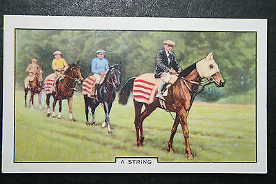 Trainers String    Horse Racing   Original 1930's Vintage Illustrated Card  VGC