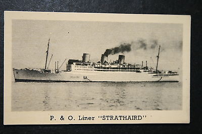 STRATHAIRD   P & O Liner   1930's Vintage Photo Card  VGC