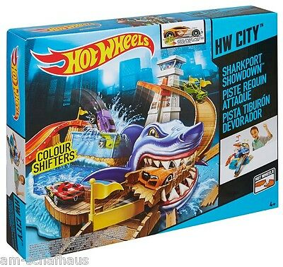 Mattel - Hot Wheels Color Shifters Hai-Attacke Spielset, BGK04
