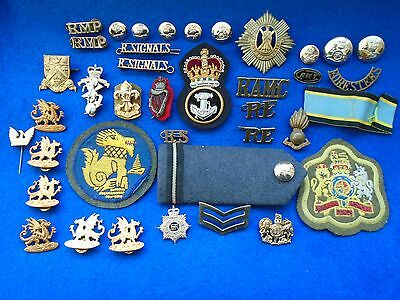 Job Lot Of My Unwanted Military Badges, Buttons, Titles & Others