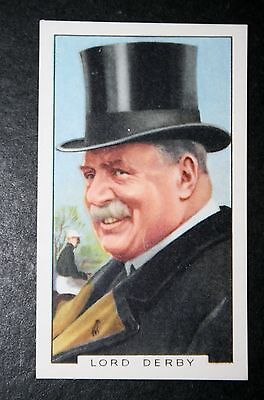 Horse Racing Attire  Top Hat    Race Horse Breeder   Lord Derby   Vintage Card