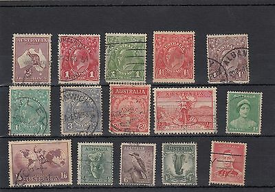 Australia. 15 -- Early Used Stamps On Stockcard