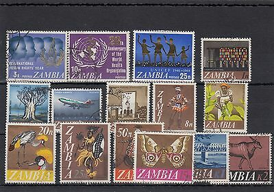 Zambia.15 --1968 Mounted Mint / Used Stamps On Stockcard