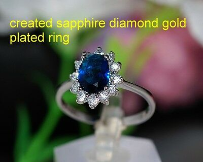 6x8mm 2ct sapphire claster ring size N 7