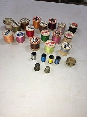 Collection Of Vintage Cotton Reels