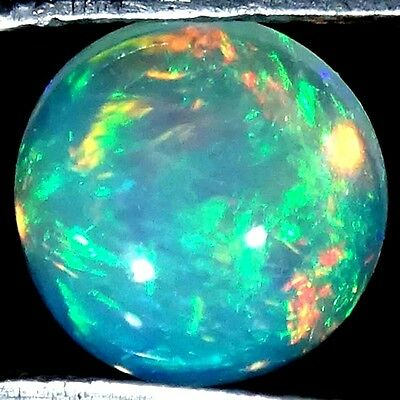 1.10Cts.100% NATURAL CLASSIC MULTI POWER ETHIOPIAN OPAL ROUND CABOCHON GEMSTONE